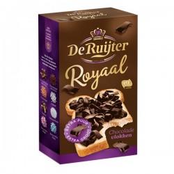 De Ruijter Royale chocolade vlokken Puur 300 gram