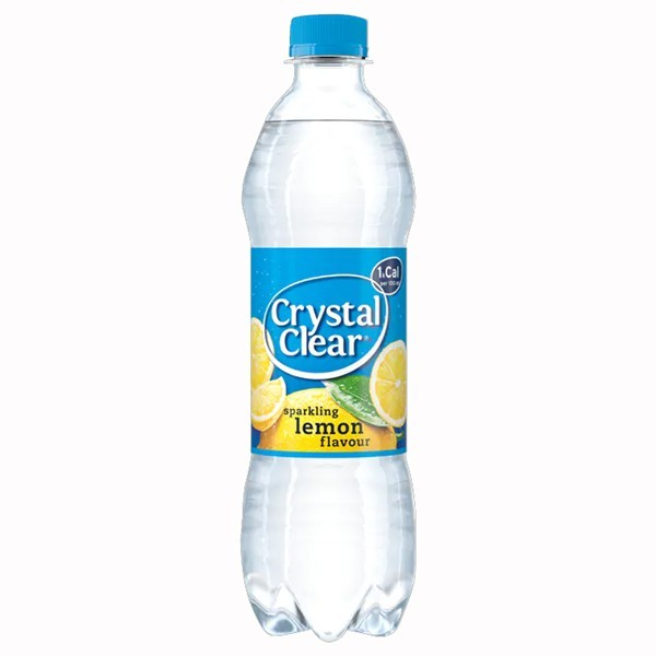 Crystal clear sparkling lemon 500 ml