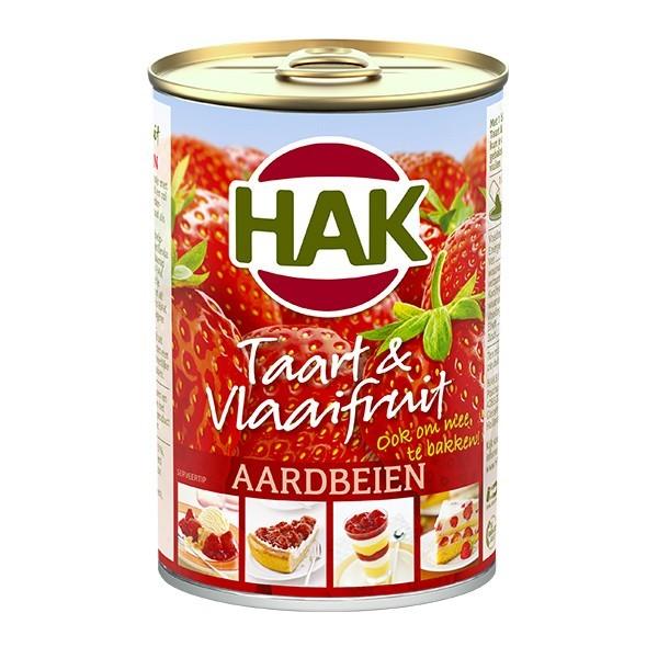 Hak Taart & Vlaaifruit Aardbei 430 gram