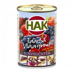 Hak Taart & Vlaaifruit Bosvruchten 425 gram