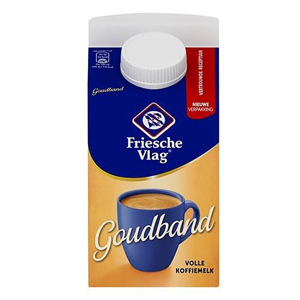 Friesche Vlag Goudband Koffiemelk pak 455 ml