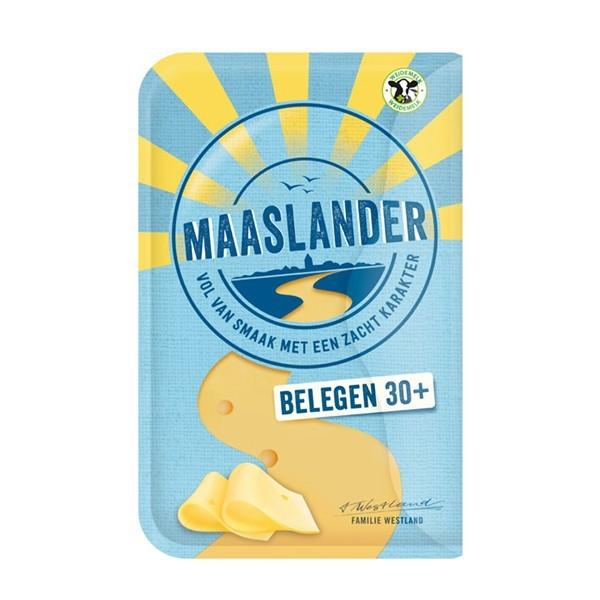 Maaslander kaas Belegen 30+ plakken 200 gram