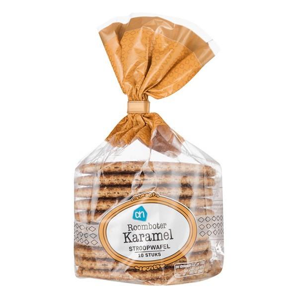 Albert Heijn Roomboter karamel stroopwafels 10-pak