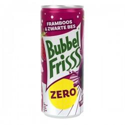 Bubbelfrisss Zero Framboos & zwarte bes Blikje 250 ml