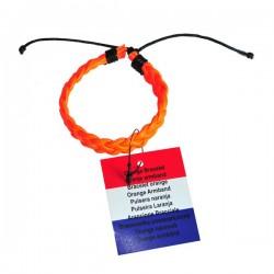 Oranje Gevlochten armbandje