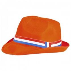 Oranje Fedora hoedje