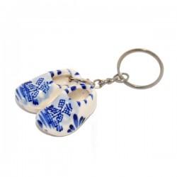 Delfts blauwe klompjes sleutelhanger