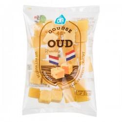 Huismerk Goudse kaas Oud in blokjes 200 gram