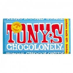 Tony's Chocolonely donkere melk chocolade reep 180 gram