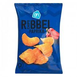 Huismerk Ribbel chips Paprika 250 Gram