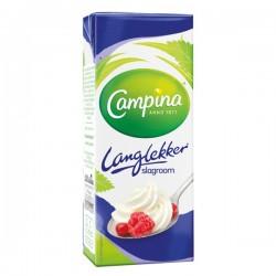 Campina Langlekker slagroom 200 ml