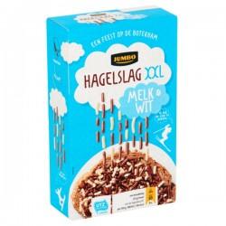 Jumbo XXL Hagelslag Melk & Wit 380 gram