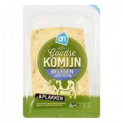 Huismerk Komijn kaas Belegen plakken 190 gram