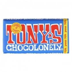 Tony's Chocolonely puur chocolade reep 180 gram
