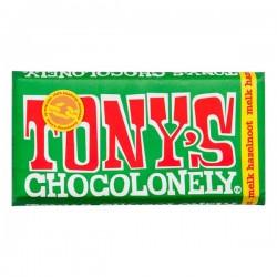 Tony's Chocolonely melk-hazelnoot chocolade reep 180 gram