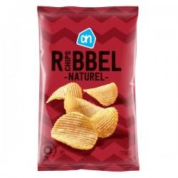 Huismerk Ribbel chips Naturel 250 Gram