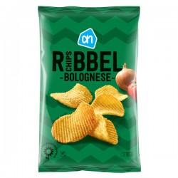 Huismerk Ribbel chips Bolognese 250 Gram