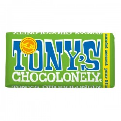 Tony's Chocolonely puur-amandel zeezout chocolade reep 180 gram