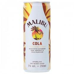 Malibu rum met Cola Blik 250 ml