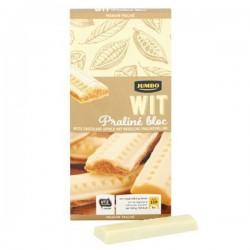Huismerk Praline bloc witte chocolade 200 gram