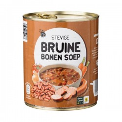 Huismerk Bruine bonen soep in blik 800 ml