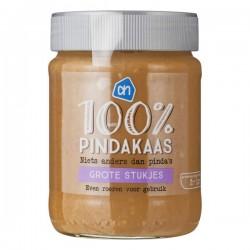 Huismerk 100% pindakaas extra grof 350 Gram