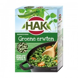 Hak gedroogde Groene erwten 500 gram