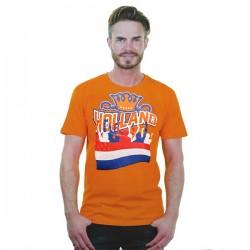 Oranje T-shirt Holland maat XL