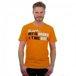 Oranje T-shirt Rara het is oranje maat XL