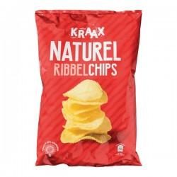 Kraak Ribbelchips Naturel 250 gram