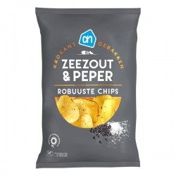 Albert Heijn Robuuste chips Zeezout & peper 150 gram