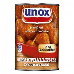 Unox Gehaktballetjes in Curry saus blik 20 stuks