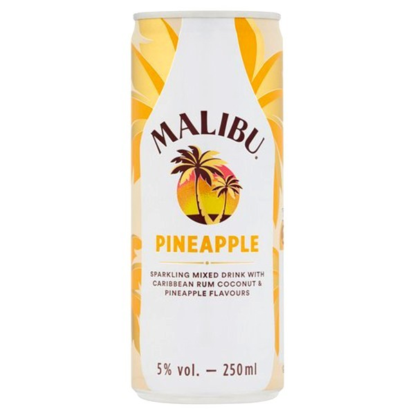 Malibu rum met Ananas Blik 250 ml