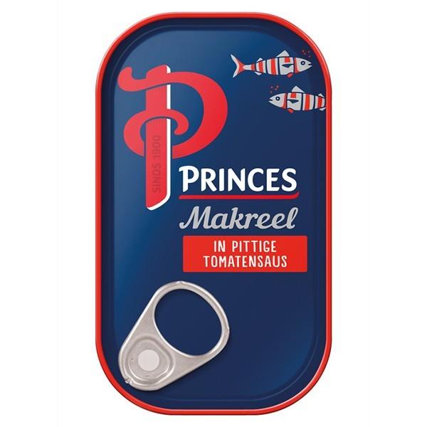 Princes Makreel in pittige tomatensaus 125 gram