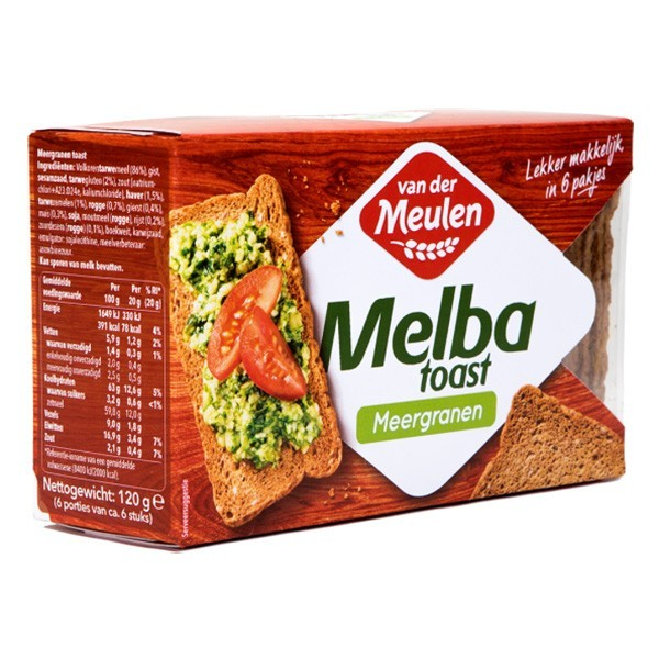 Melba toast meergranen 120 gram