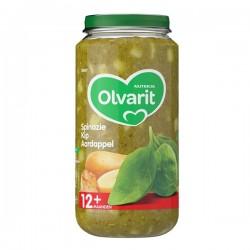Olvarit Baby 12 maanden Spinazie, kip en aardappel 250 gram