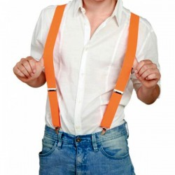 Oranje Bretels met clip