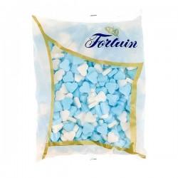 Fortuin Blauw-witte vruchtenhartjes 1 kilo