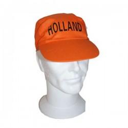 Oranje Basketbal cap met tekst Holland