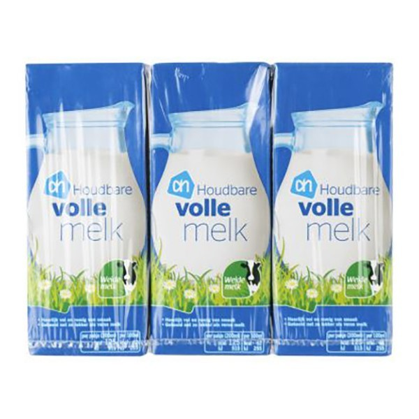 Huismerk Houdbare volle melk 6 x 200 ml