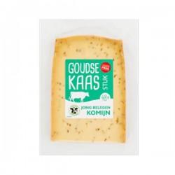 Huismerk Komijn kaas Jong belegen stuk 435 gram