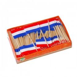 Rood-wit-blauwe Vlaggenprikkers 144 stuks