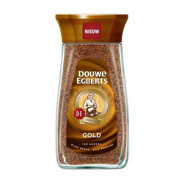 Douwe Egberts Goud oplos koffie pot 200 gram