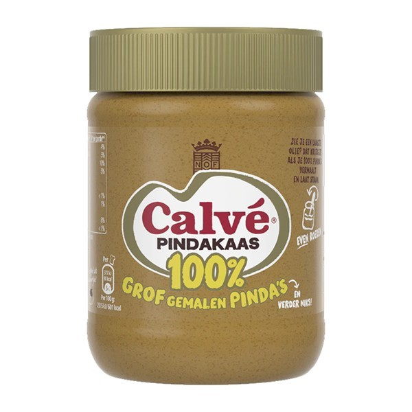 Calvé Pindakaas 100% pinda's grof gemalen 350 gram