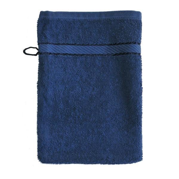Luxe washandje Marine blauw