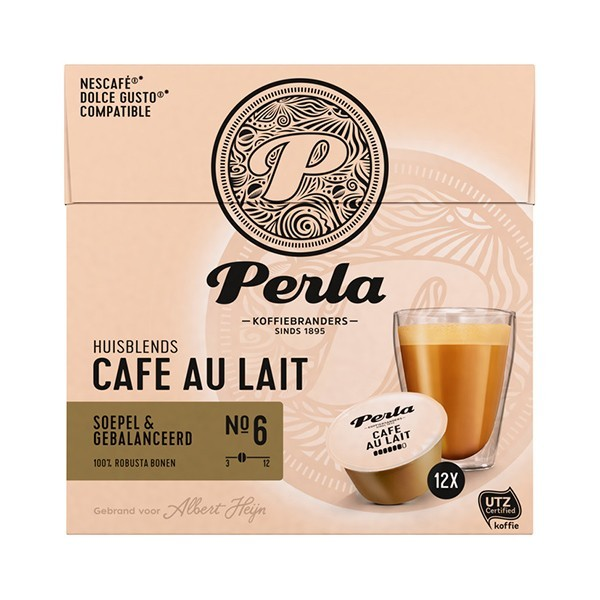 Perla Dolce gusto capsules Cafe au lait 12 stuks