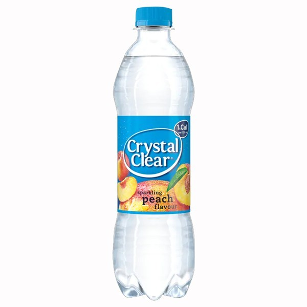 Crystal clear sparkling peach 500 ml