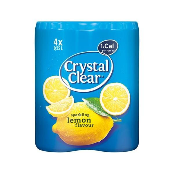 Crystal clear sparkling lemon 4-pak blik