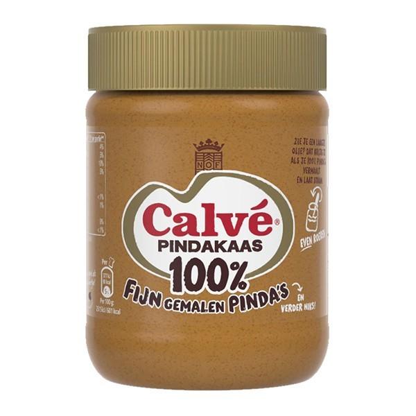 Calvé Pindakaas 100% pinda's fijn gemalen 350 gram