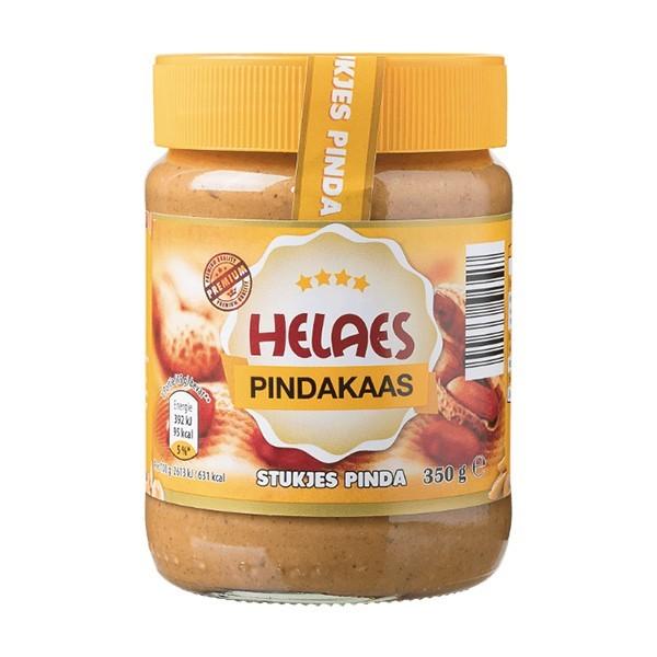 Helaes Pindakaas met stukjes pinda 350 gram